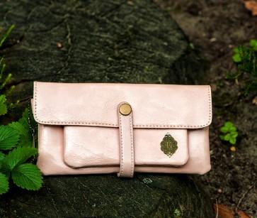 Portemonnaie Leder rosa
