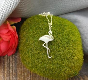 Kette versilbert Flamingo