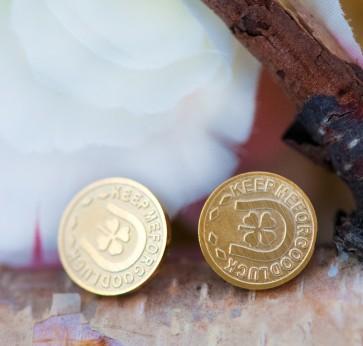 Ohrstecker vergoldet Glücksmünze