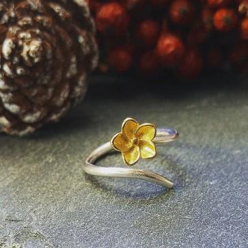 Ring 925 Sterlingsilber Blüte
