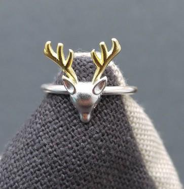 Ring 925 Sterlingsilber Hirsch